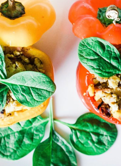 These scrambled egg stuffed peppers are easy, healthy, and extremely satisfying! A low-carb and whole 30 breakfast to start your day right! High protein   Whole 30 Breakfast   Paleo Breakfast   Sugar Free   Refined Sugar Free   Gluten-Free Breakfast   Brunch   Weight Loss   Nutrition   Nutritious   Quick and Easy   Wholesome   Filling   Scrambled Eggs   Lean   Turkey Bacon   Spinach   Oven Baked   Baked Eggs   Egg Cups   Keto Breakfast   Ketogenic Diet   Keto Food  