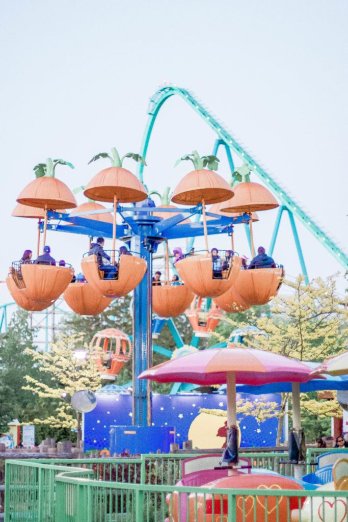 Canada's Wonderland has so much to offer, like their Snoopy's Dog Days of Summer live performance, Maple Park Treehouse which is a HUGE outside playground, and their delicious food options for hungry kiddos! Click to read tips for spending a full day of family fun at Wonderland | Parenting | Motherhood | Toronto | Canada | Vaughan | Amusement Park | Shows for Kids | Rollercoasters | Rides | Summer Fun | Family Fun | Family Trip | Family Travel | Travelling with Kids | What to Pack | Water Park |