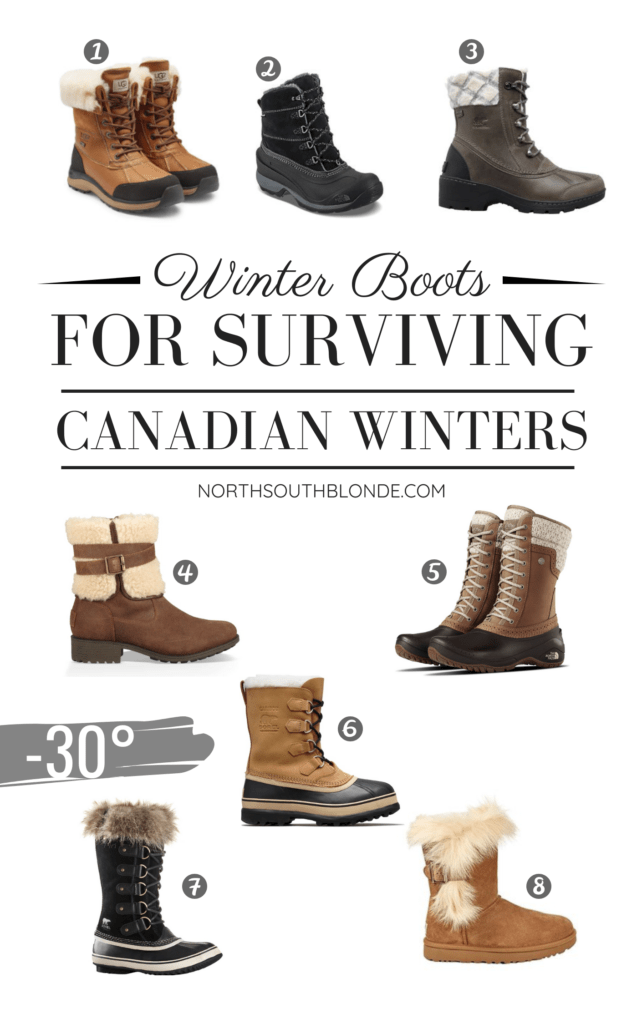 Here is a round up of stylish, yet functional winter boots for women that will hold up all winter long, in severe temperatures. Winter Boots | Women's Fashion | Canada | Canadian Winter | Below Zero | Winter Gear | Style | Warm Boots | Lifestyle | Canadian Blogger | Waterproof Boots | Ugg | Sorel | The North Face | Uggs | Gifts for Her | Christmas | Gift Guide | Chic | Practical | Snow Boots | Winter Style | Canadian Travel |