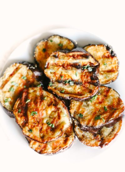 Garlic Parmesan Grilled Eggplant is melt-in-your-mouth delicious, the best BBQ recipe and side dish you will ever make! Easy, healthy, low carb, and keto friendly. Healthy Side Dishes | Dinner Recipes | BBQ Recipes | Eggplant Recipes | Grilling | Sides | BBQ'd Eggplant | Ketogenic | Weight Loss | Keto Dinner | Easy | Simple | Grilled Veggies | Barbecued | Barbecue |