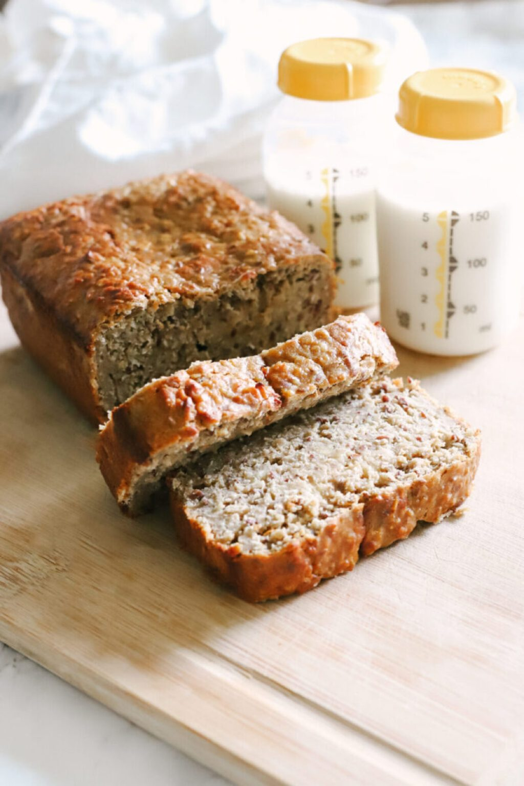 A delicious and healthy way to boost your milk supply in a hurry. For richer, nutrient-dense breast milk when breastfeeding. women's health   boost milk supply   milk flow   breastmilk   debittered brewer's yeast   flaxseed   oatmeal   gluten-free   lactation recipes   lactation banana bread   gluten-free   healthy   postnatal   postpartum   pumping   breastfeeding supplements   breastfeeding tips   Increase Milk Supply   Motherhood   Nursing