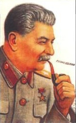 Stalin with pipe