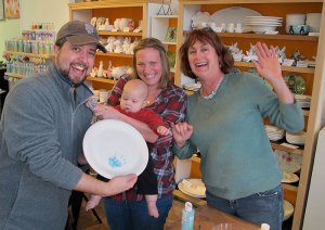 The Edmonson family with All Fired Up Chico owner Janice Hofmann.