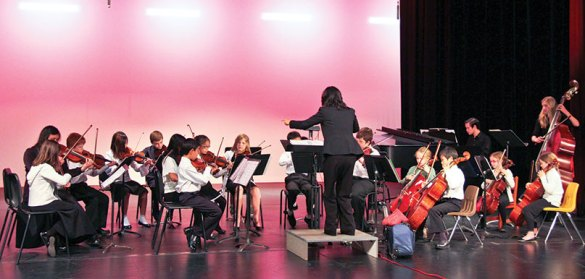 Music Teachers' Association of California Intermediate Youth Orchestra (Chico Youth Orchestra) with Yoshie Muratani, Conductor.  Photo by Louisa Louie.