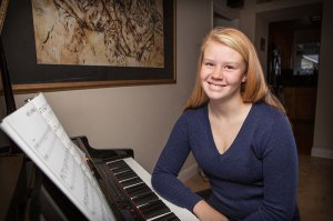 Madison See, age 13, has been playing piano for over eight years. She studies with music teacher