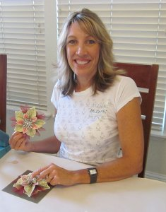 Denise Smith enjoys taking creative classes with Sharon Lyons of Cards by Sharon in Chico.