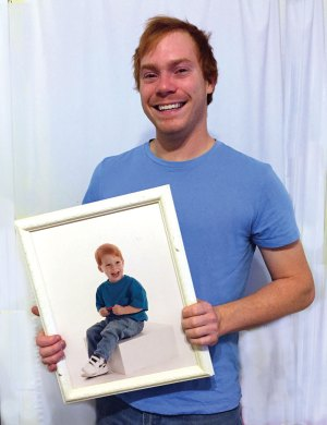Matt Kacyn shown here at ages 3 and 25, attended Vanderbilt University, and currently plans to return to school to obtain a bachelor's degree in elementary education. Photo by Tiara Lavitt