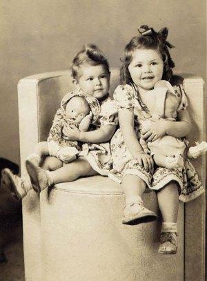 Billie and Arlene Martin, 1946