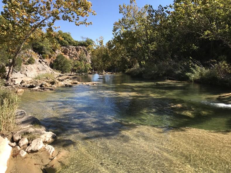 Turner Falls: Honey Creek up at the top