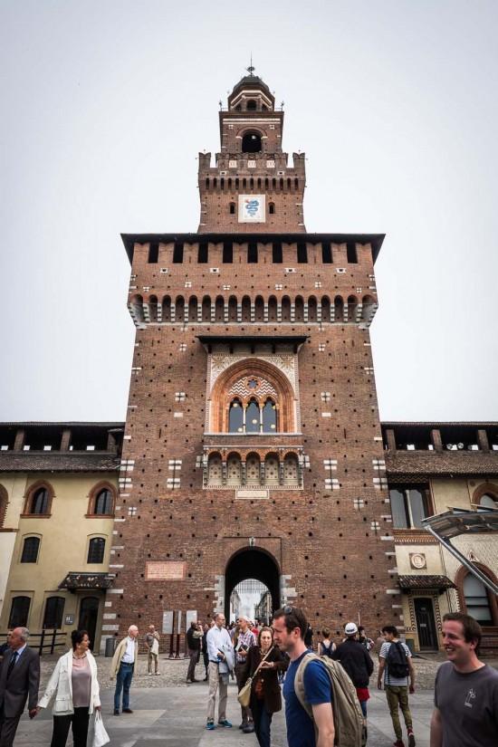 Castello Sforzesco, Milan, Italy on northtosouth.us