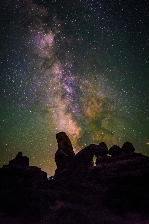 The Milky Way at Arches National Park, Utah, USA on northtosouth.us