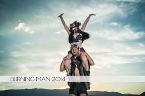 Ian and Diana at Burning Man 2014