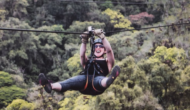 Diana Southern ziplining on Sky Trek with Sky Adventures Arenal, Costa Rica