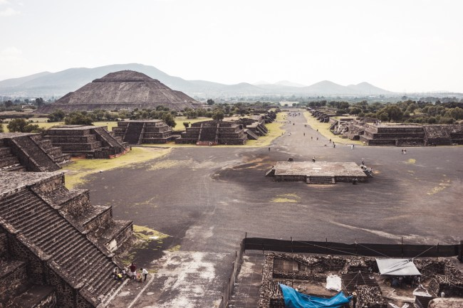 view from Pyramid of the Moon, Teotihuacán