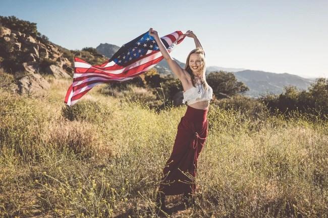 Shot of the Week: American Woman -- American flag photo shoot
