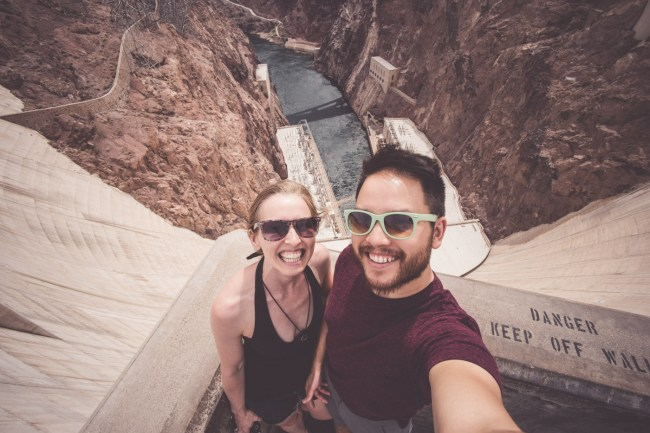 Diana and Ian at the Hoover Dam, Nevada