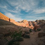 hiking at Valley of Fire, White Domes trail