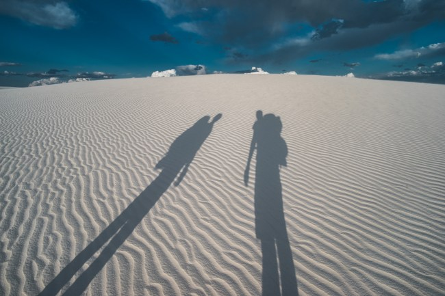 backpacking at White Sands National Monument, New Mexico