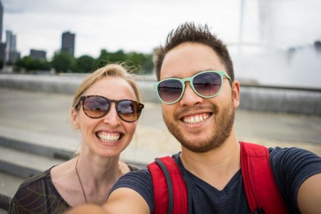 selfie time in Pittsburgh