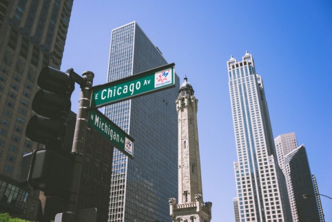 Michigan Ave and Chicago Ave intersection