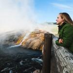 Maya Lindemann at Yellowstone National Park