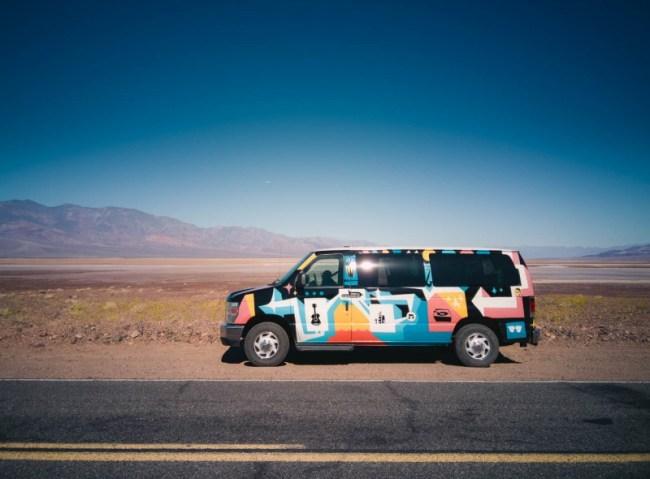 Escape Campervan in Death Valley National Park
