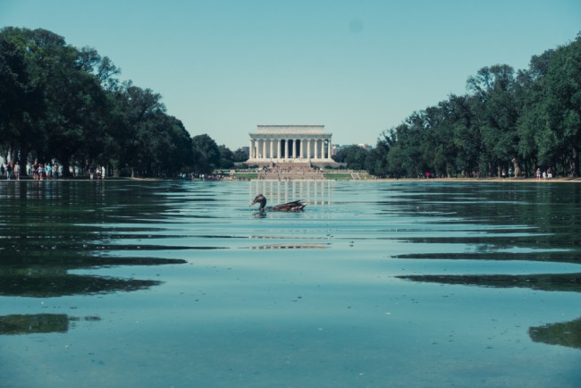 Lincoln Memorial Reflecting Pool in Washington, D.C.