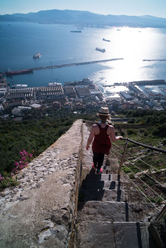 Hiking To the Top of the Rock of Gibraltar | Walking Down on the West Side of the Rock