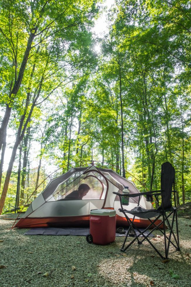 U.S. Road Trip Re-Cap: Week Nineteen -- camping at Twin Knobs Campground in Daniel Boone National Forest