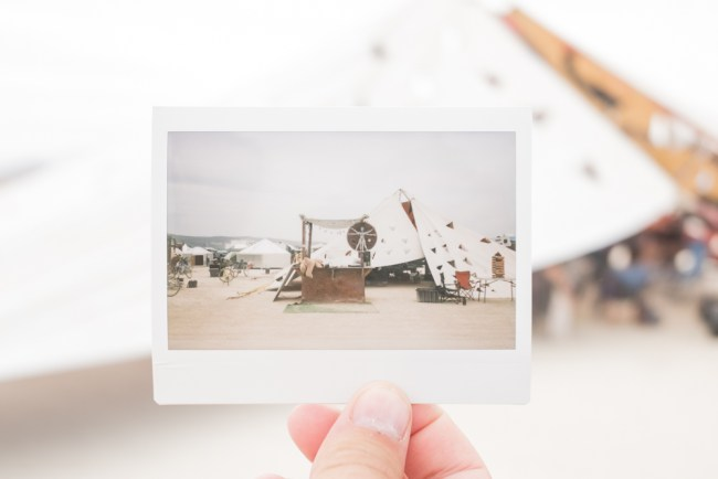 Burning Man polaroid project photo by Diana Southern