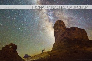 Proposal at Trona Pinnacles, California under the Milky Way