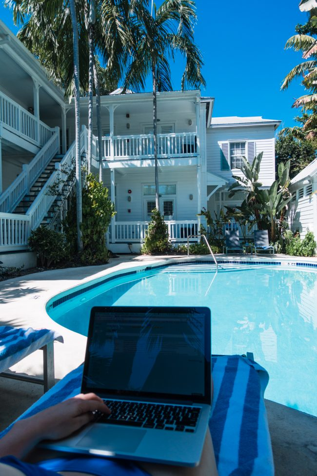 Digital Nomad Laptop Time in Key West, Florida