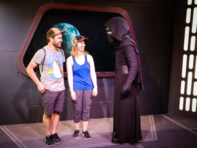 Meeting Kylo Ren at Star Wars Launch Bay