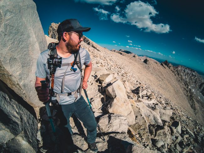Ian Norman, Nearing the Summit on the John Muir Trail - Hiking Mt Whitney - northtosouth.us