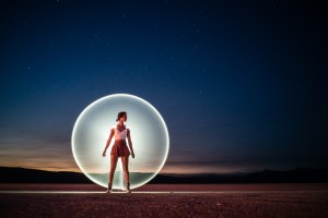 Burning Man 2018 Light Painting Night Portraits by Ian Norman and Diana Southern