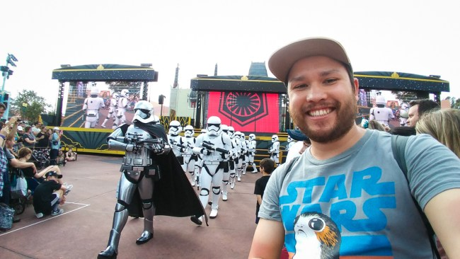 The Best and Worst Rides and Attractions at Disney's Hollywood Studios | March of the First Order Star Wars courtyard show on North to South