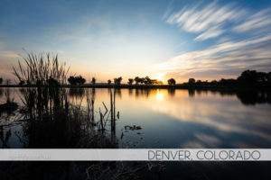 sunrise in Denver, Colorado