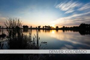 sunrise in Denver, Colorado