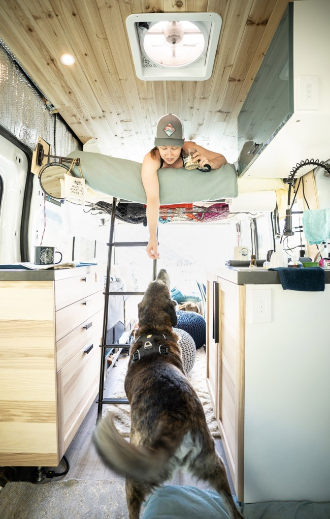 Ford Transit campervan interior layout with extra space for the dog | northtosouth.us