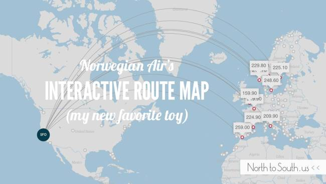 Norwegian Air's interactive route map is my new favorite toy!