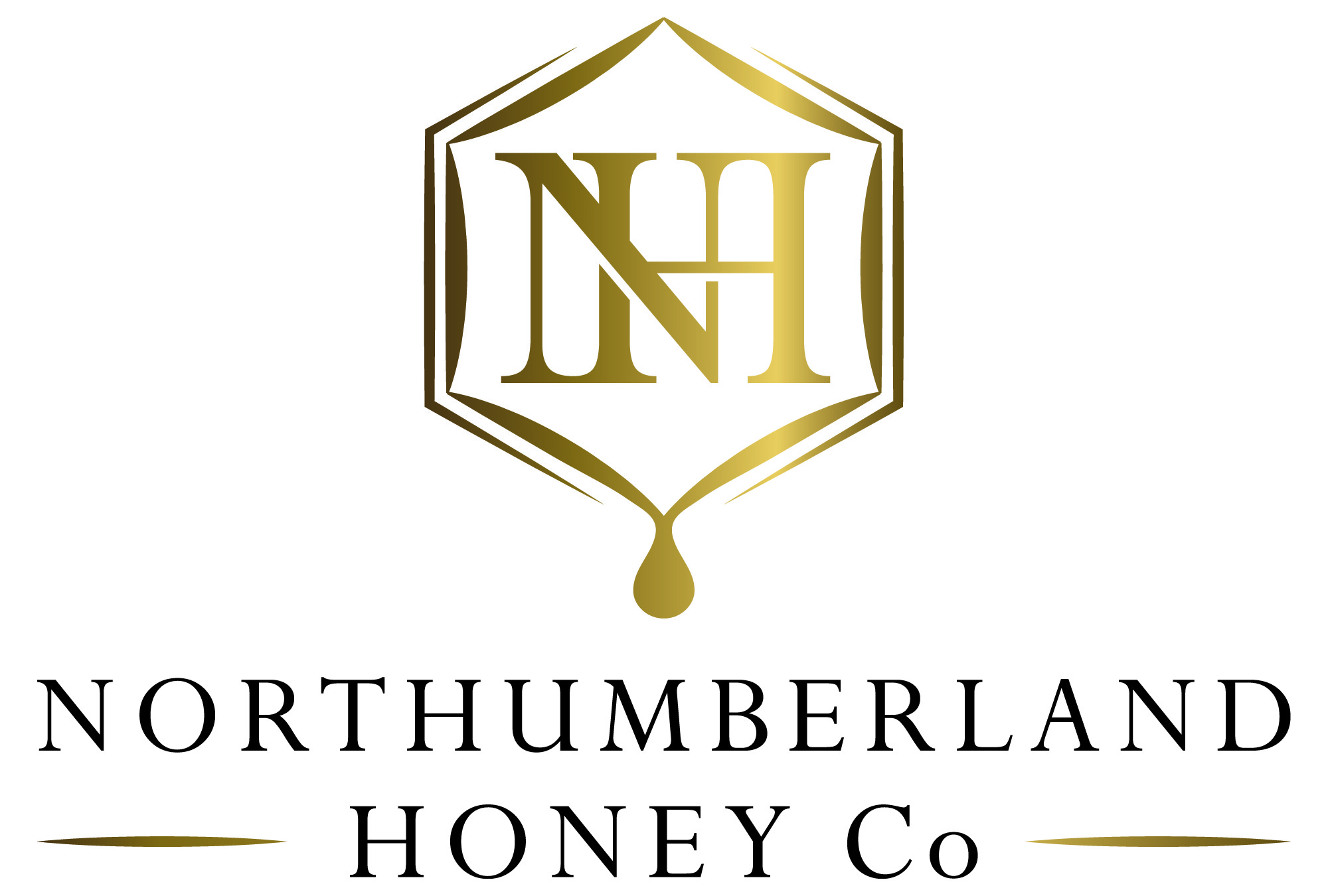 Northumberland Honey Logo Gold