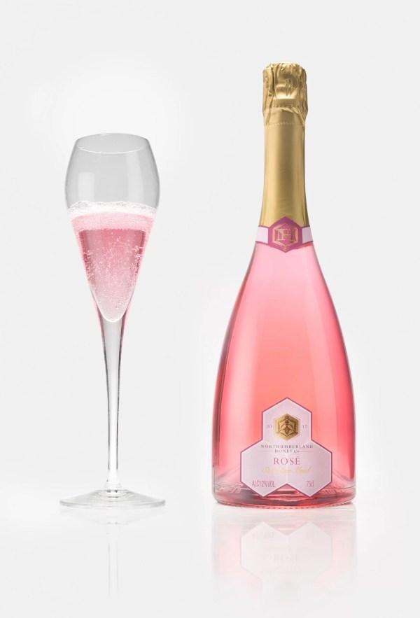 Rose Sparkling Mead | Glass of Rose Sparkling