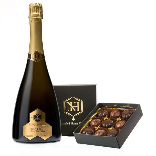 Heather Sparkling Mead with Honey Chocolate Truffles