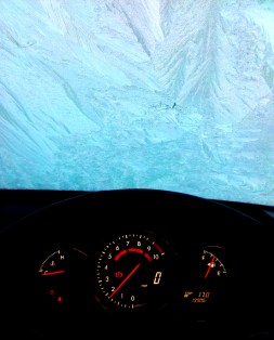 Frozen windscreen