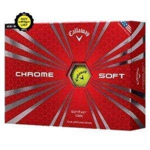 Callaway Chrome Soft Golf Balls (Yellow)