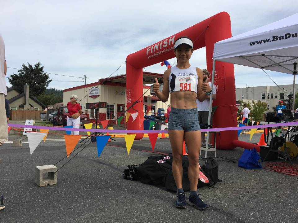 Sophia ran a personal best of 17:48 in the 5K at this year's Run for the Pies in Carnation.