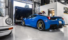Azzurro-Dino-Ferrari-458-Speciale-XPEL-Ultimate-paint-protection-leaving-seattle-NWAS