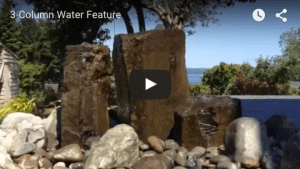 3-column water feature in Poulsbo
