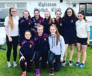 Eglinton Ladies Cricket Club Team may 2018