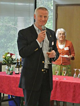 Kenneth Olsen Leading the Champagne Toast in Honor of Her Majesty Queen Margrethe II of Denmark